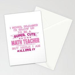 A Super cute Math Teacher Stationery Cards