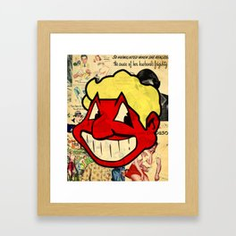RED MAN Framed Art Print