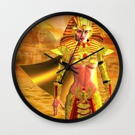 Egyptian Warrior Queen Wall Clock