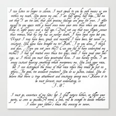 Wentworth's Letter Canvas Print