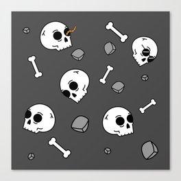 Bones Sinking Like Stones Canvas Print