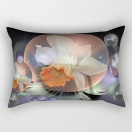 Daffodil in a fantasy droplet Rectangular Pillow