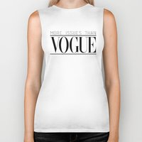 vogue Biker Tanks featuring Vogue Issues by Encourage Fashion