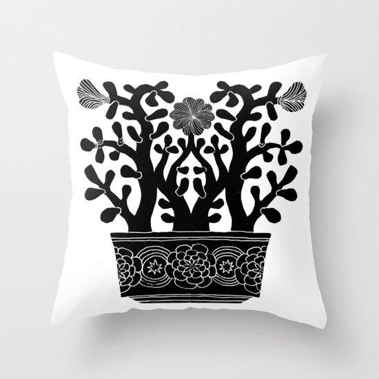 Flowering Jade Throw Pillow