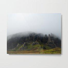 Quiraing In The Mist Metal Print