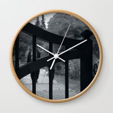 Coming towards You behind the gates of nature Wall Clock