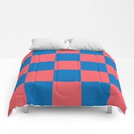 retro classic blue-and-red plaid Liderc Comforters