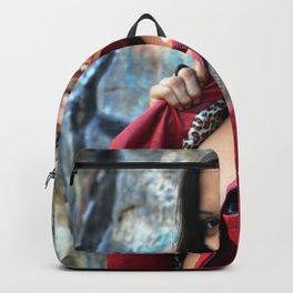 Young Hispanic Woman Backpack