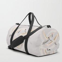 traditional Japanese cranes bright illustration Duffle Bag