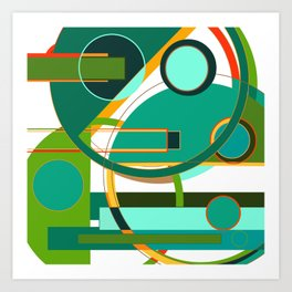 D is for Deco: Abstract Art Deco Font Typography Art Print