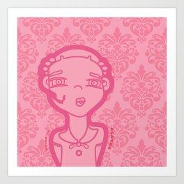 AGATHA (pink) Art Print