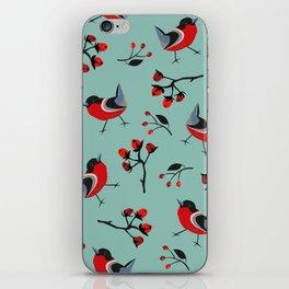 Bird Seamless Pattern. Bullfinch birds iPhone Skin