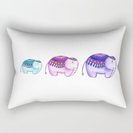 3 elephants Rectangular Pillow