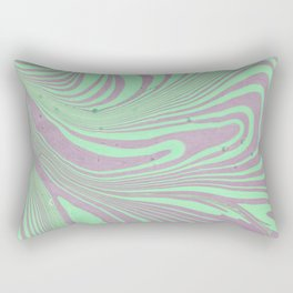 Violet mint green abstract watercolor marble Rectangular Pillow