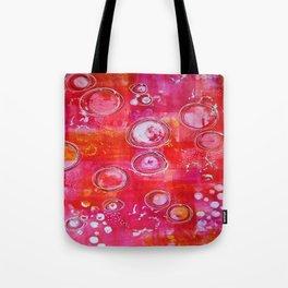 Abstract Pink Aura Tote Bag