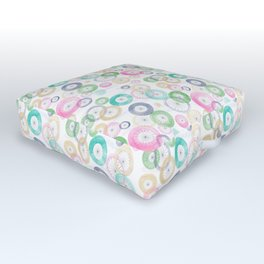 Watercolor Wheels Outdoor Floor Cushion