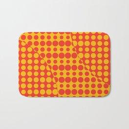 Orange Grunge Background Bath Mat