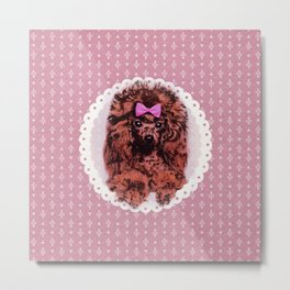 Cute Poodle Dog Metal Print