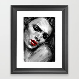 """""""Red Lips Passion"""" Framed Art Print"""