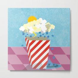 Popcorn Soda-Ice Hailstorm Metal Print