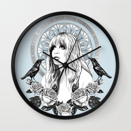 Stevie Nicks Angel Of Dreams Wall Clock