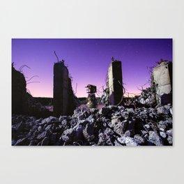 demolished Canvas Print