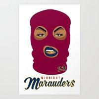 Midnight Marauder$ - Cavs Wine Print Art Print