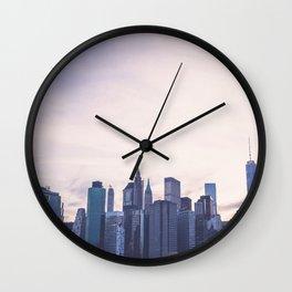 Lower Manhattan Skyline Wall Clock