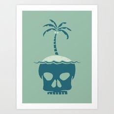 Skull Island – Green Art Print