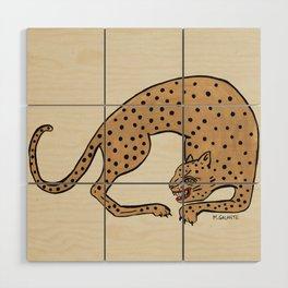 Cheetah Wood Wall Art