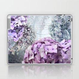 Purple Vintage Flower Hydrangea Hortensia Collage Laptop & iPad Skin