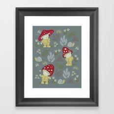 Melancholy Mushrooms Framed Art Print