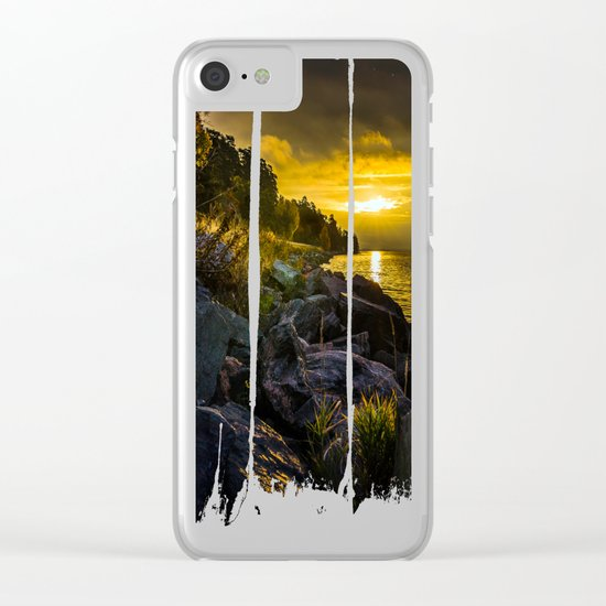 Morning Gold II Clear iPhone Case
