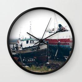 Norwegian fishing boats Wall Clock