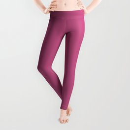 Simple Solid Color Bashful Pink All Over Print Leggings