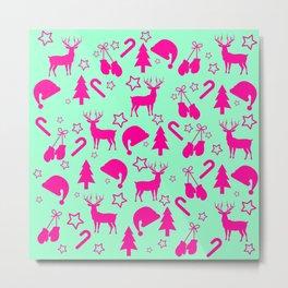 Christmas in pink Metal Print