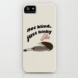 Not blind, just kinky! iPhone Case