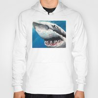 shark Hoodies featuring Shark by Kristin Frenzel