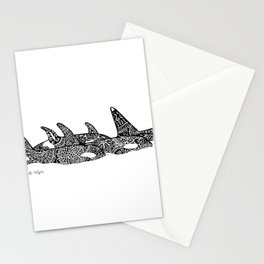 Orca Family Stationery Cards