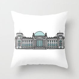Reichstag building in Berlin Throw Pillow