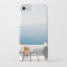 View on Santorini island iPhone Case