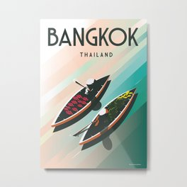 Bangkok Thailand| Vintage Travel Poster | Enhanced Matte Paper perfect for your wall Instant Digital Metal Print