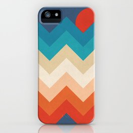 Vintage 70s Adventure on the Mountains iPhone Case