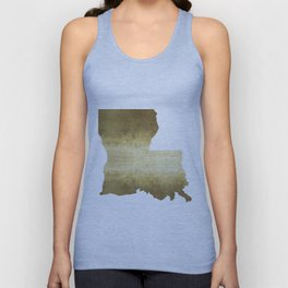 louisiana gold foil state map Unisex Tank Top