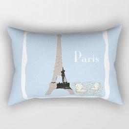 Paris in Powder Blue Rectangular Pillow