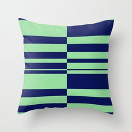 Abstract striped pattern. blue and green . Throw Pillow