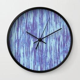 Ikat Streaks in Water Blues Wall Clock