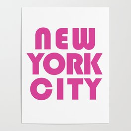 New York City in Pink Poster