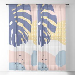 Who loves the sun Sheer Curtain