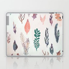 Mix of plants and watercolor leaves Laptop & iPad Skin